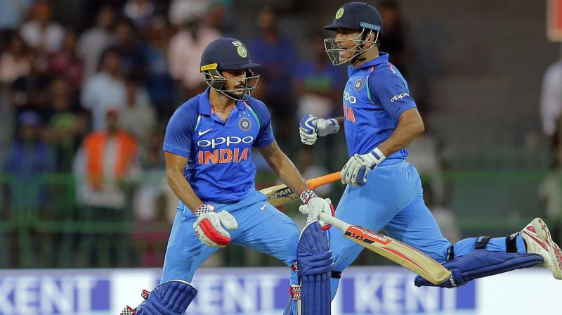 Manish Pandey with MS Dhoni   Deccan Chronicle