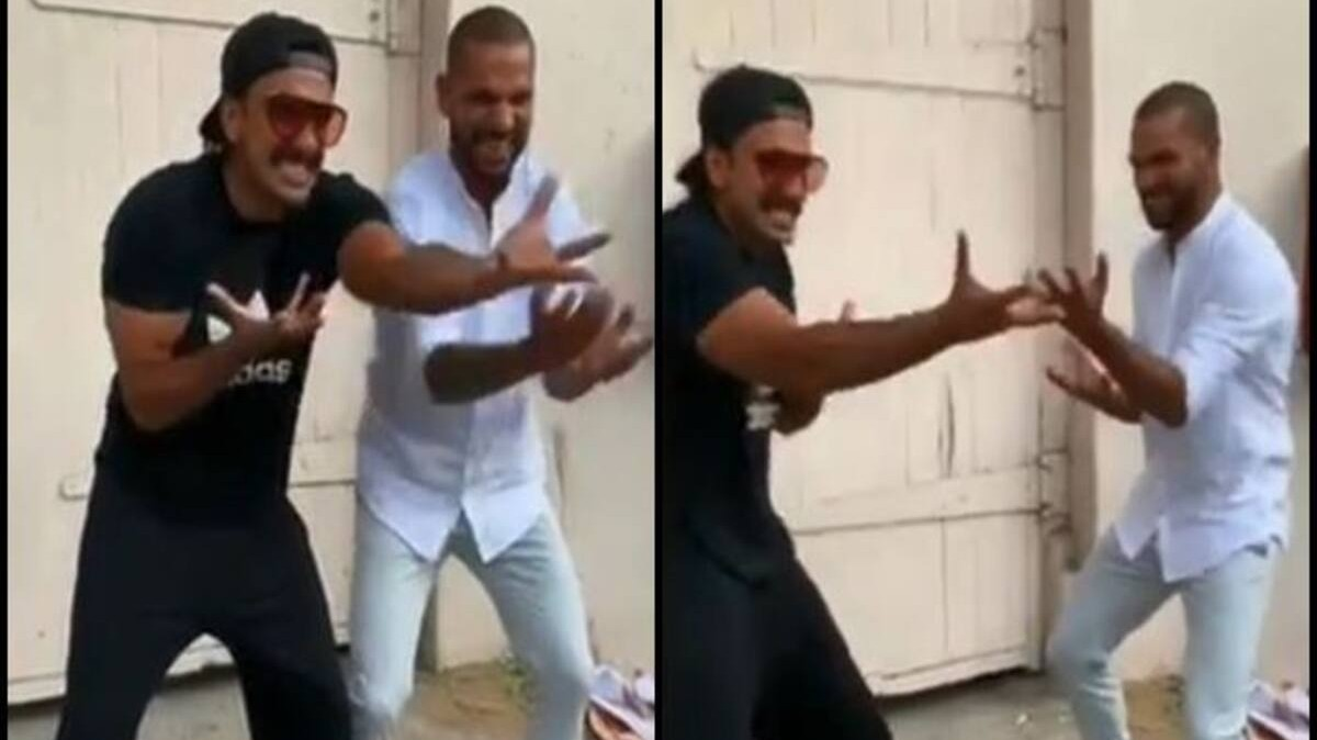 Shikhar Dhawan shares funny dancing video with Ranveer Singh on the actor's 35th birthday