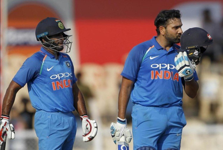 Rohit Sharma (162) and Ambati Rayudu (100) added 211 runs for the third wicket | HT