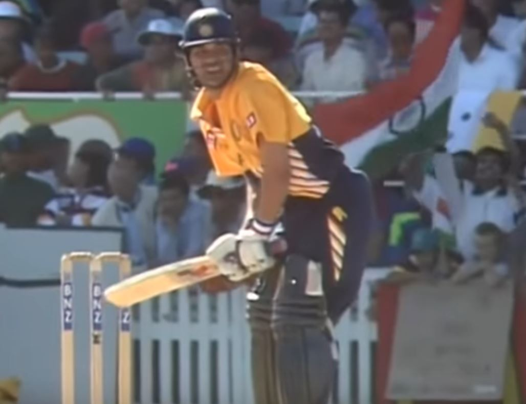 Sachin Tendulkar smashed 82 off 49 balls in his first innings as opener in ODIs