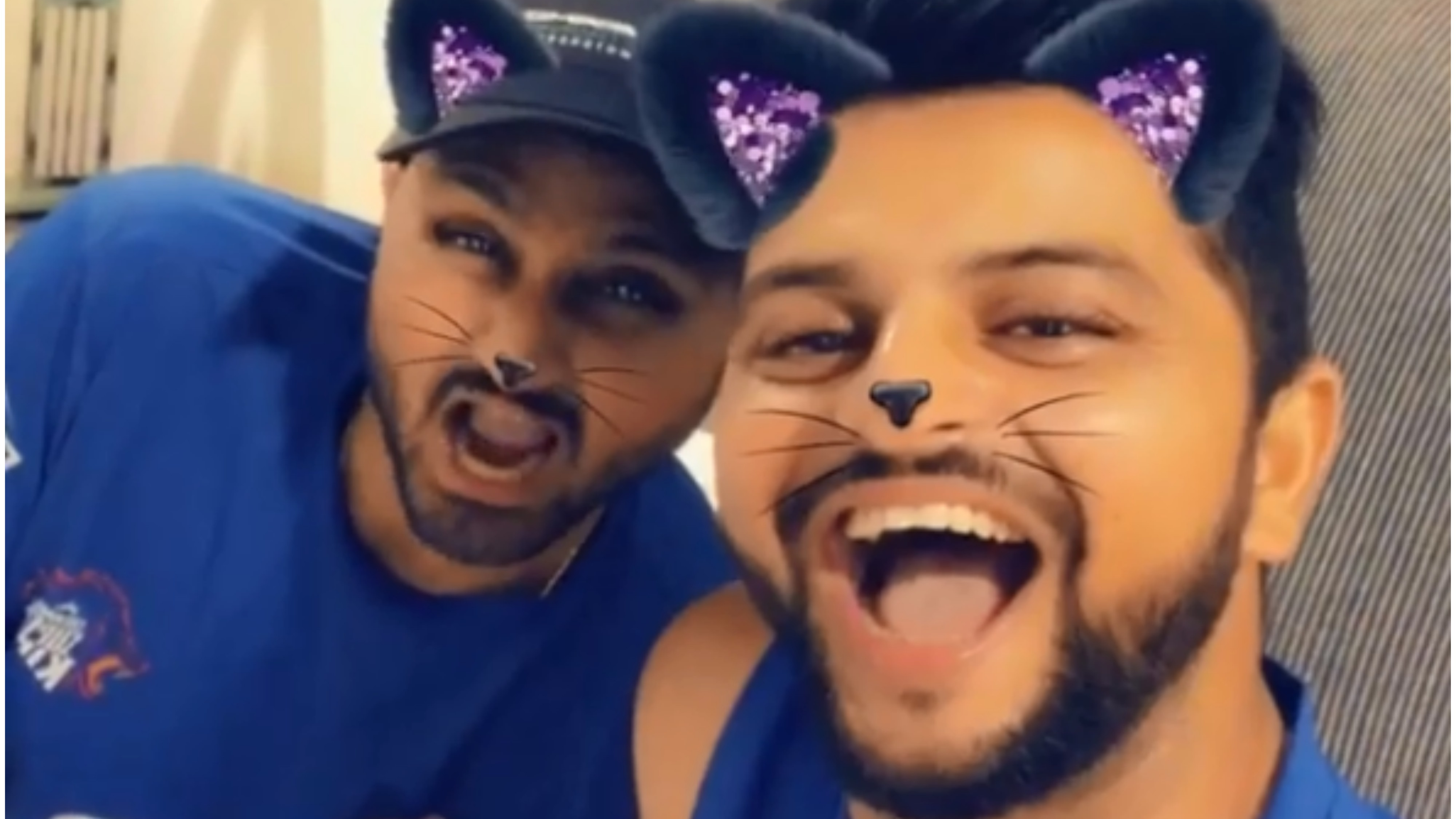 IPL 2018: Watch – Harbhajan Singh and Suresh Raina's hilarious cat imitation