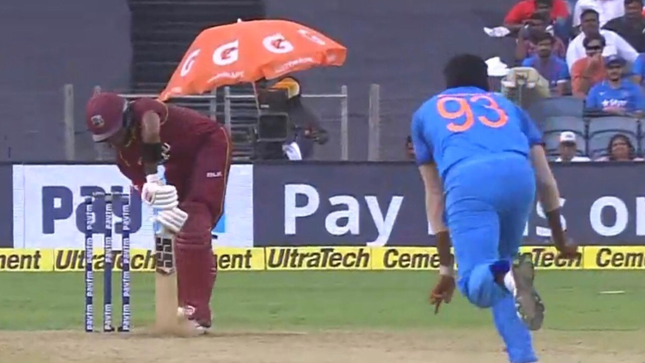 IND v WI 2018: WATCH – Jasprit Bumrah's searing yorker shatters Shai Hope's stumps; Windies make 283/9