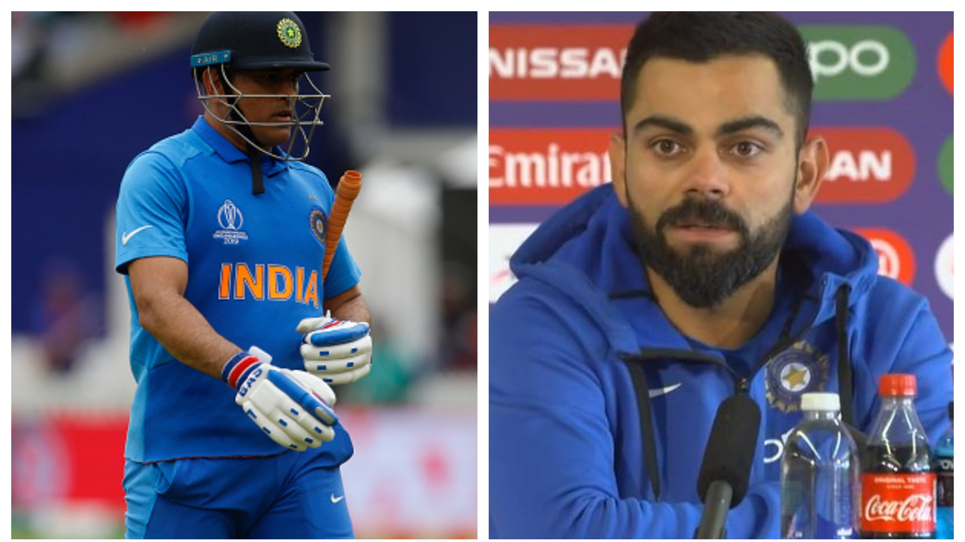 CWC 2019: Virat Kohli reacts to criticism on MS Dhoni after India's semi-final defeat to New Zealand