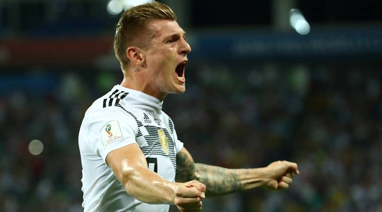 Germany's Toni Kroos celebrates scoring their second goal (Source: Reuters)