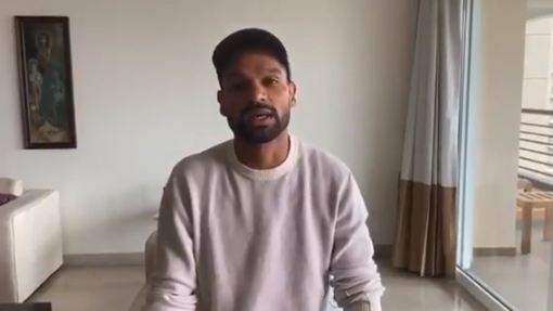 WATCH: Shikhar Dhawan asks Indian citizens to contribute to COVID-19 relief fund