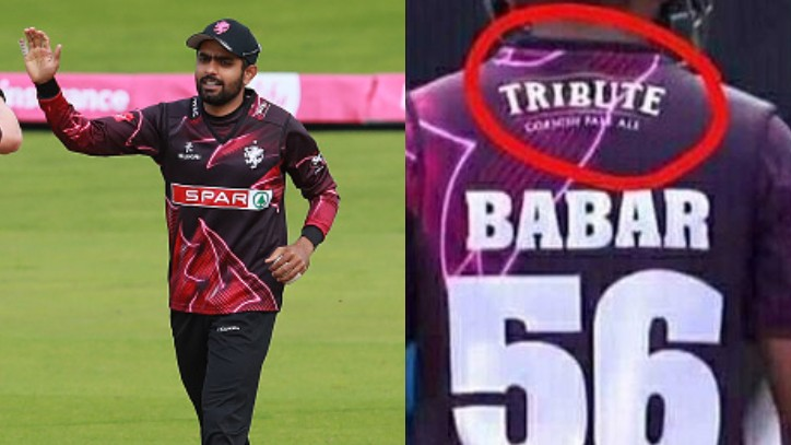 Babar Azam asks Somerset to remove the alcohol company branding from his jersey