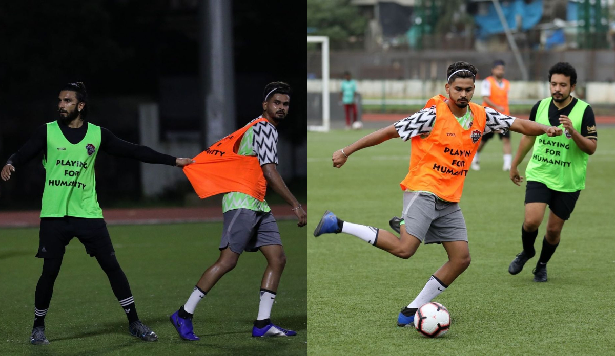 Shreyas Iyer in action during the football match | Instagram