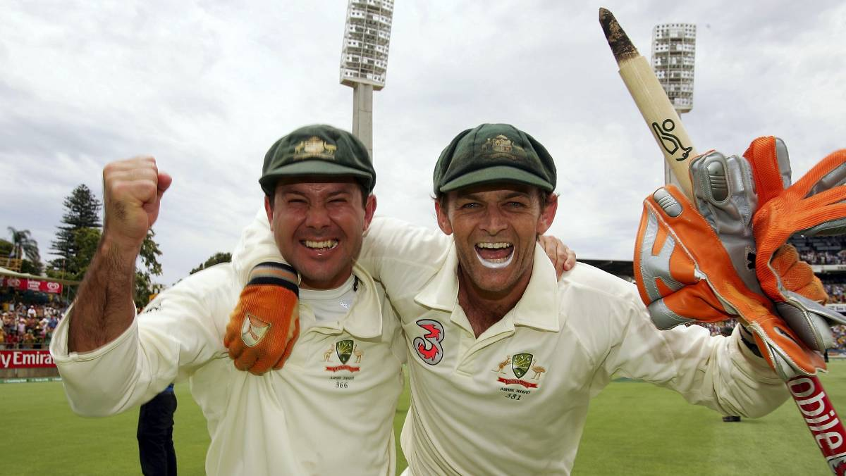 Ricky Ponting and Adam Gilchrist | Source Getty