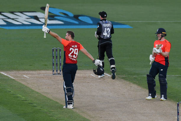 Dawid Malan (103*) and Eoin Morgan (91) added 182 runs for 3rd wicket against New Zealand in Napier T20I. (photo - getty)