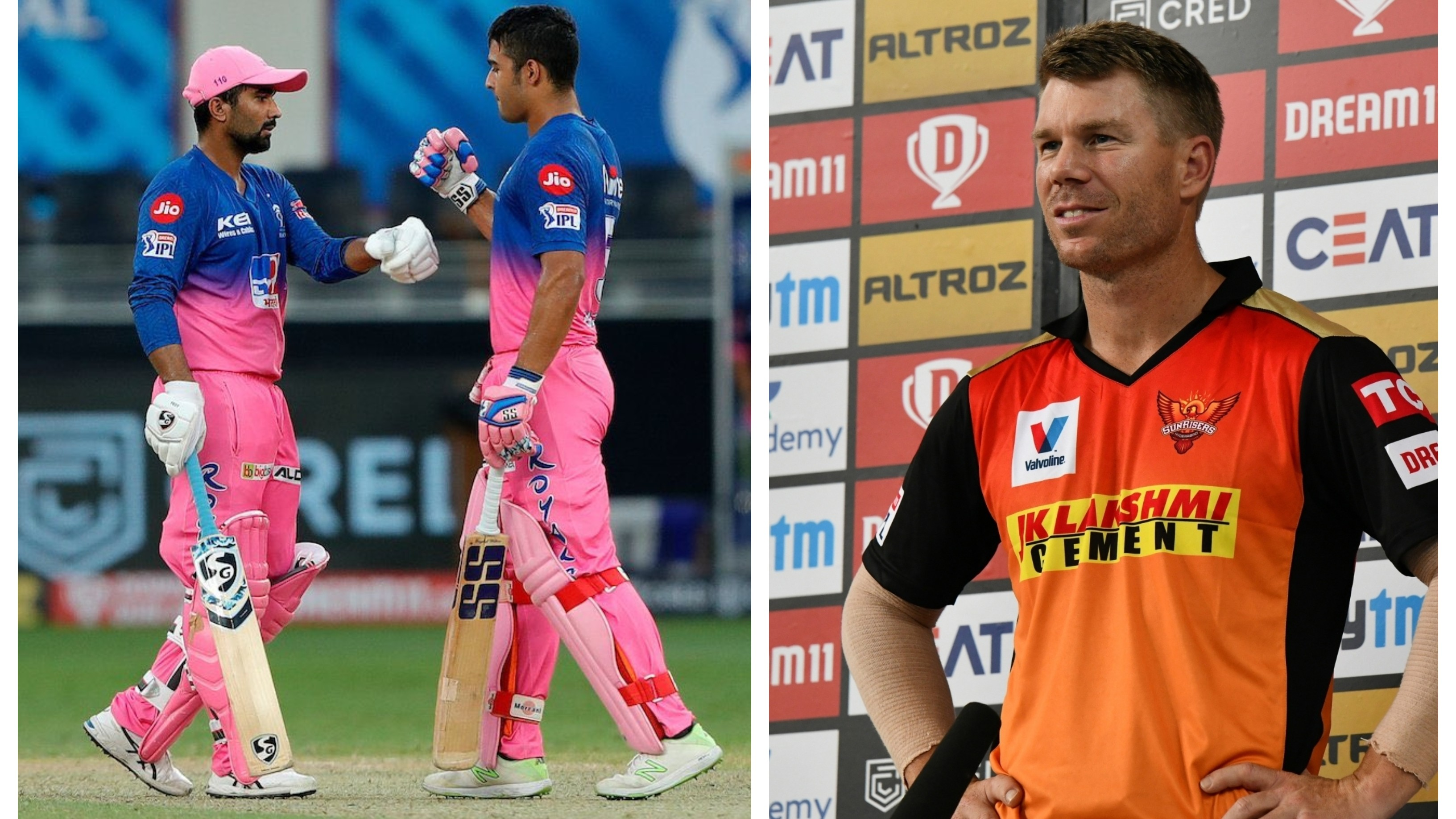 IPL 2020: Warner praises Tewatia and Parag for taking RR over the line while chasing SRH's 158