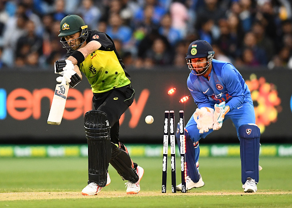 Glenn Maxwell had his furniture disturbed by Krunal's peach of a delivery | Getty