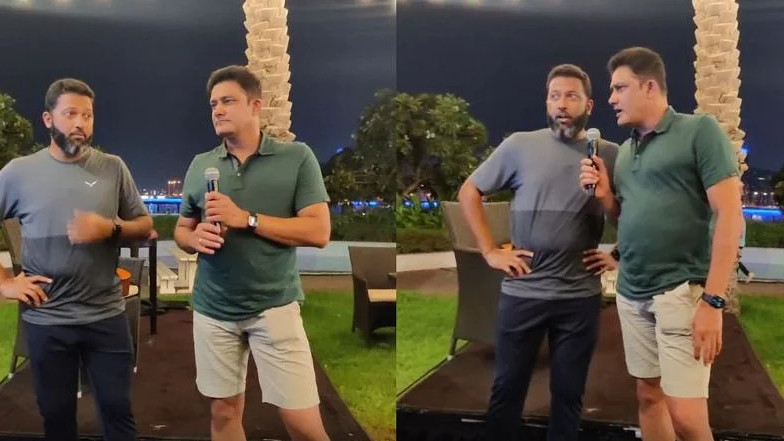 IPL 2021: WATCH- PBKS coaches Wasim Jaffer and Anil Kumble set the mic on fire during karaoke session