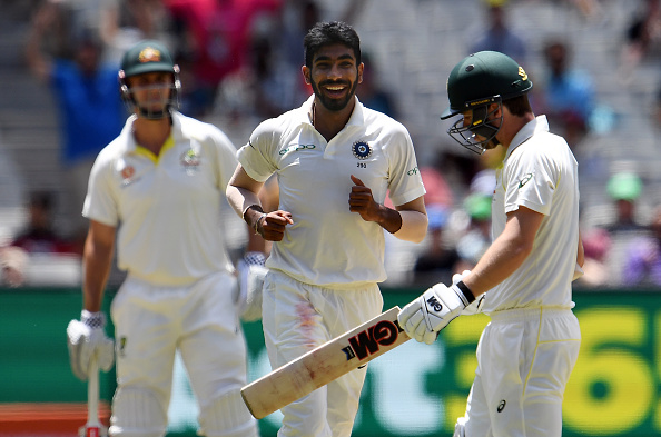 Jasprit Bumrah celebrates the dismissal of Australia batsman Travis Head | Getty