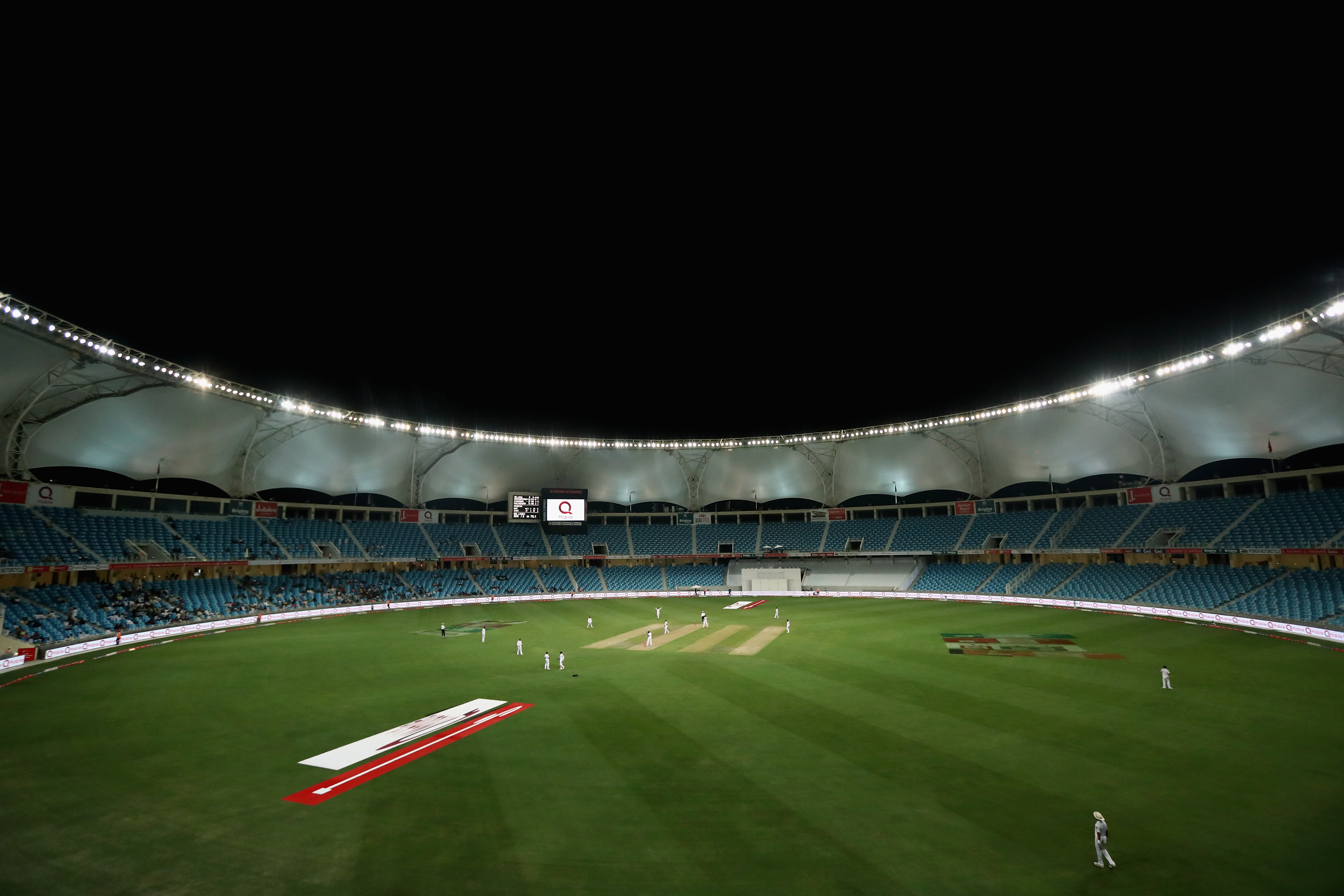 A general view of day-night Test in Dubai | Getty