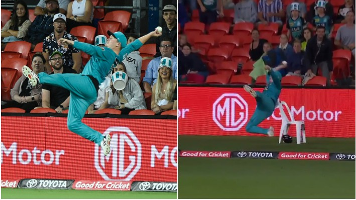 BBL 10: WATCH - Max Bryant pulls off an 'unbelievable' fielding effort to save a six
