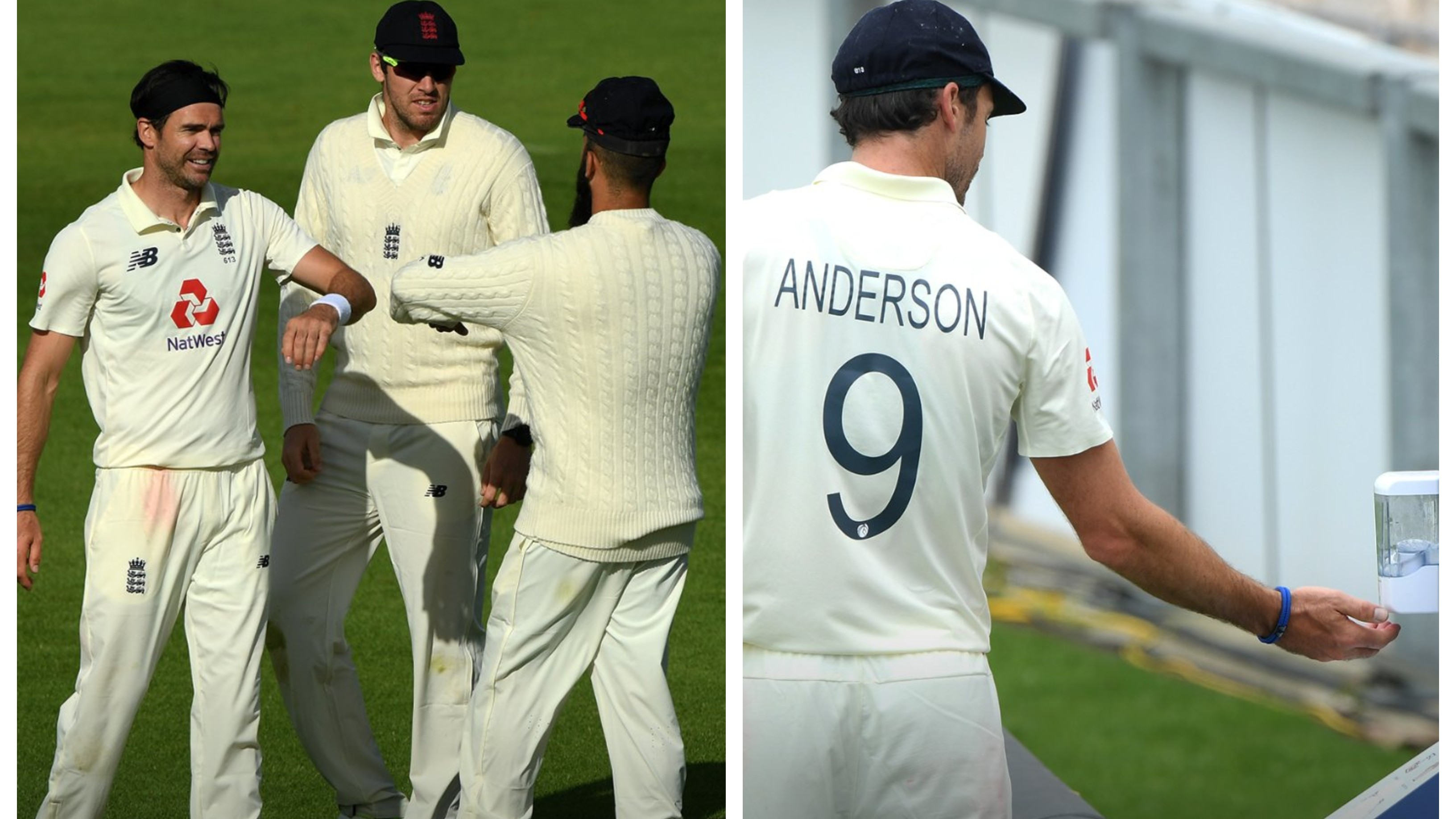 WATCH: Anderson maintains physical distancing while celebrating wickets; uses sanitiser during warm-up game