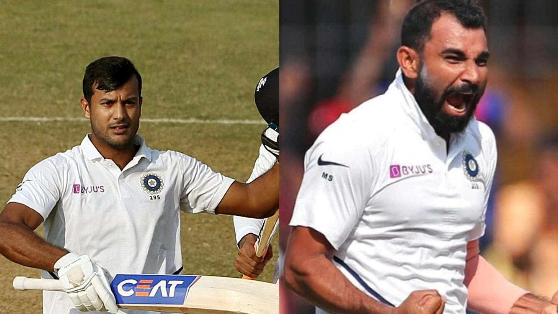IND v BAN 2019: Mohammad Shami and Mayank Agarwal attain career-best ICC rankings after Indore Test heroics