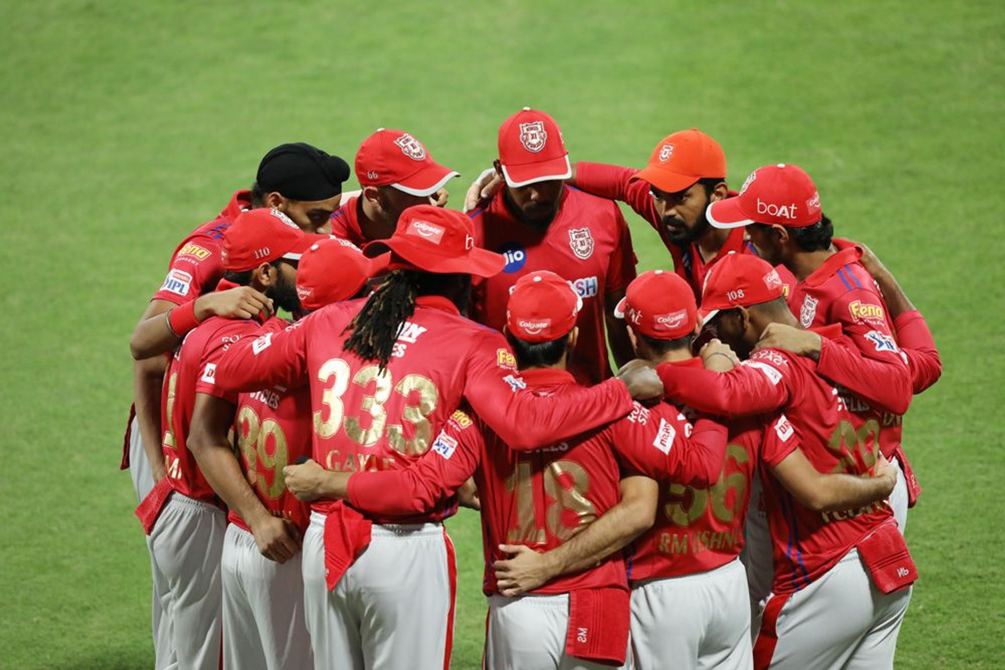 KXIP in a team huddle | BCCI/IPL