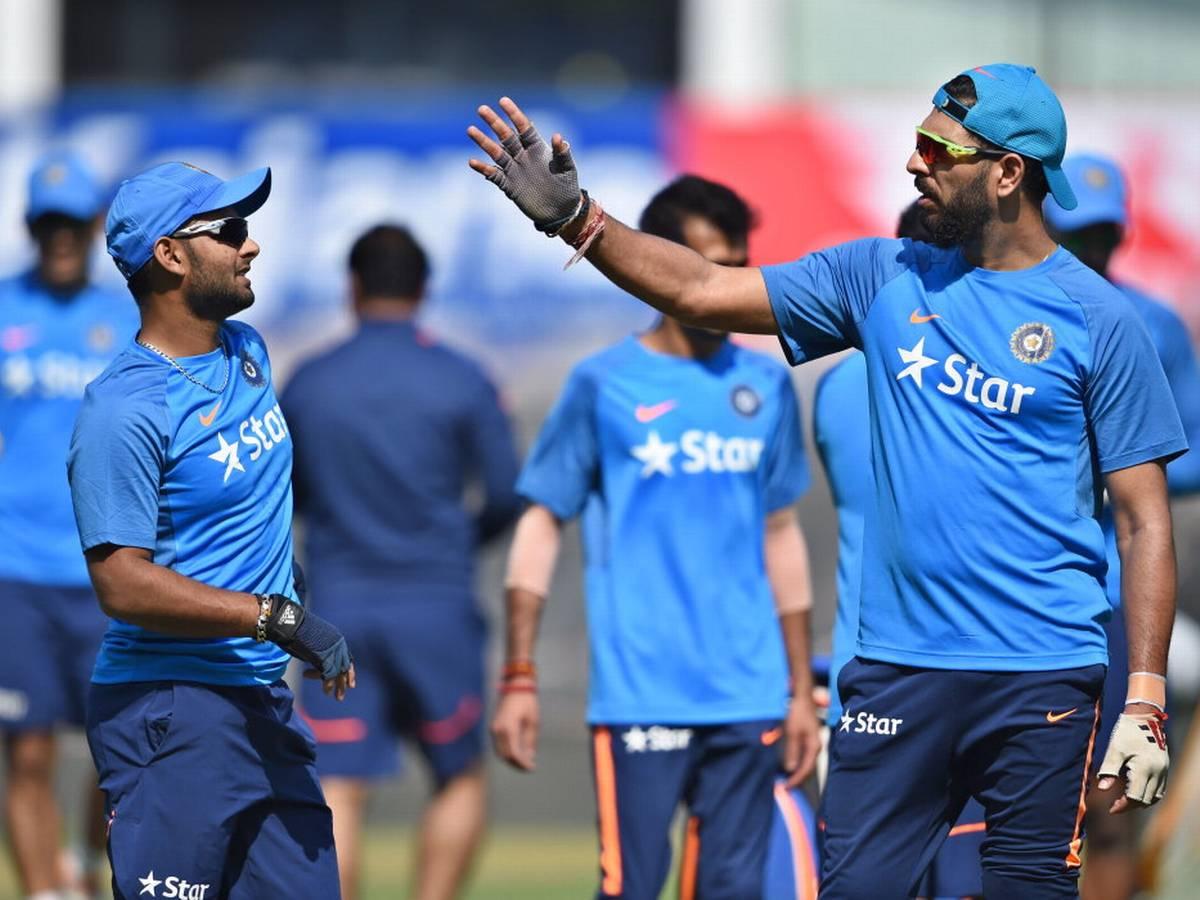 Rishabh Pant and Yuvraj Singh | The Hindu