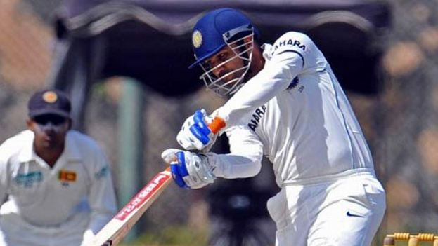 Sehwag during his epic 201* in Galle in 2008