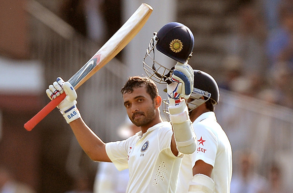 Ajinkya Rahane acknowledges his 100 at Lord's in 2014 | Getty