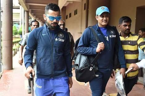 Virat Kohli with Anil Kumble | Getty Images
