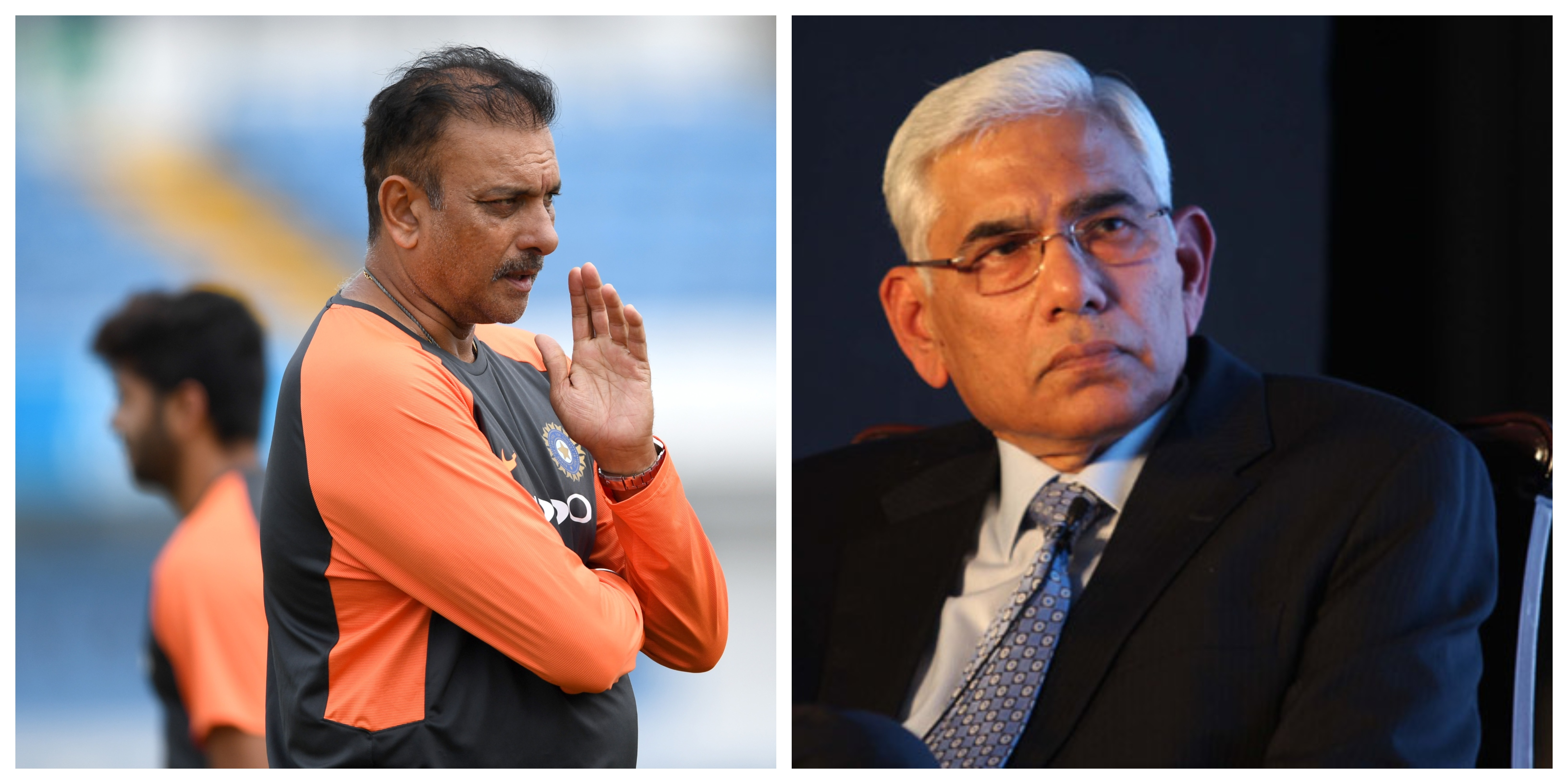 The COA chief Vinod Rai can have a word with head coach Ravi Shastri. | Getty