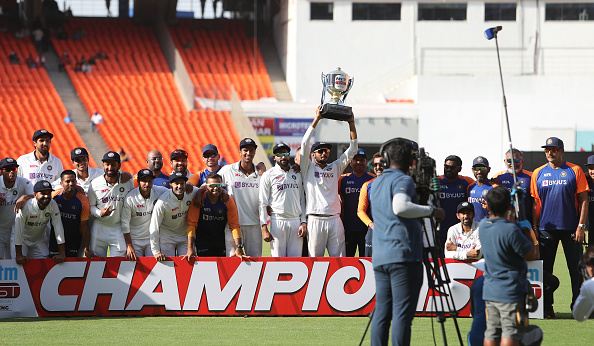 Team India after winning the series 3-1 | Getty Images