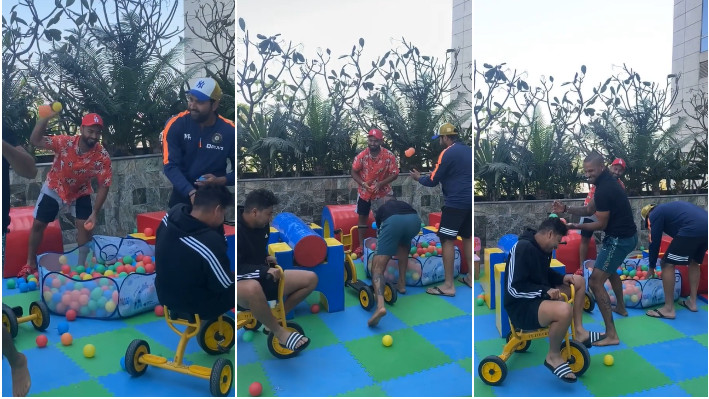 IND v ENG 2021: WATCH - Dhawan, Rohit, Kuldeep, and Pant spend time at Kids Playing Zone