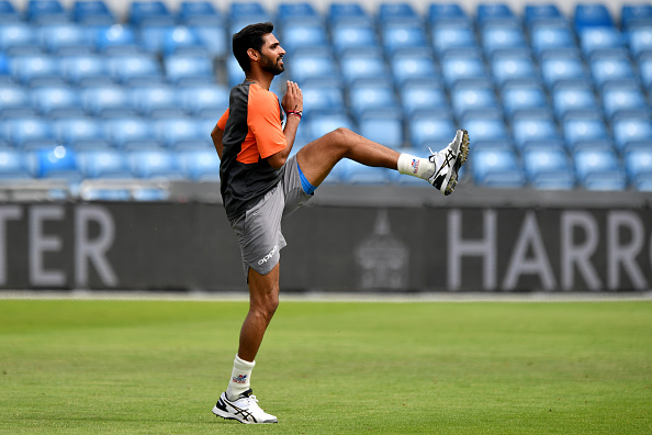 Bhuvneshwar Kumar practicing at Leeds | GETTY