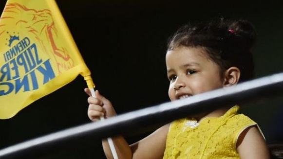 Watch: Ziva Dhoni cheering for Chennai Super Kings at Chepauk