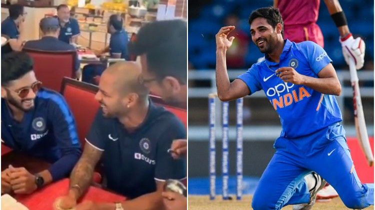 Bhuvneshwar Kumar comes up with a savage response to Shikhar Dhawan's acting