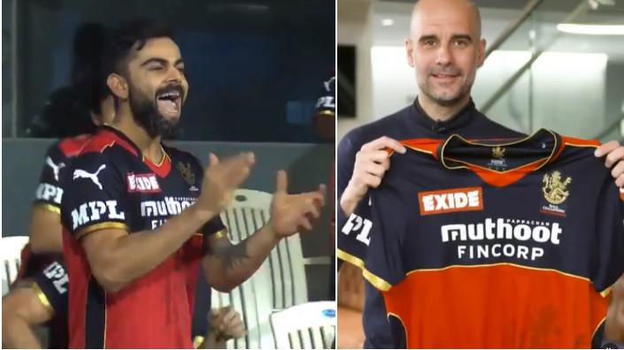 IPL 2021: WATCH - Manchester City's manager Pep Guardiola thanks Virat Kohli for RCB jersey