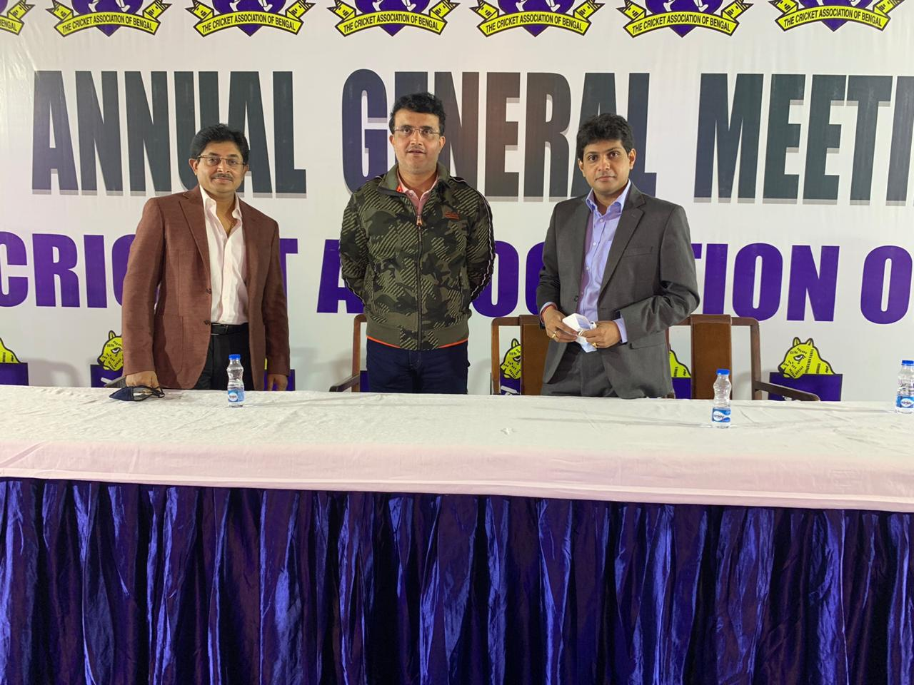 Sourav Ganguly attended CAB's Annual General Meeting | CAB Twitter