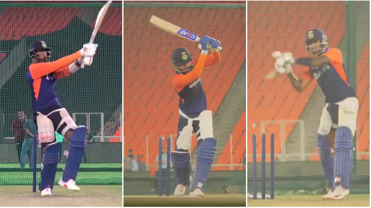 IND v ENG 2021: WATCH - Team India sweats it out in nets ahead of England T20I series