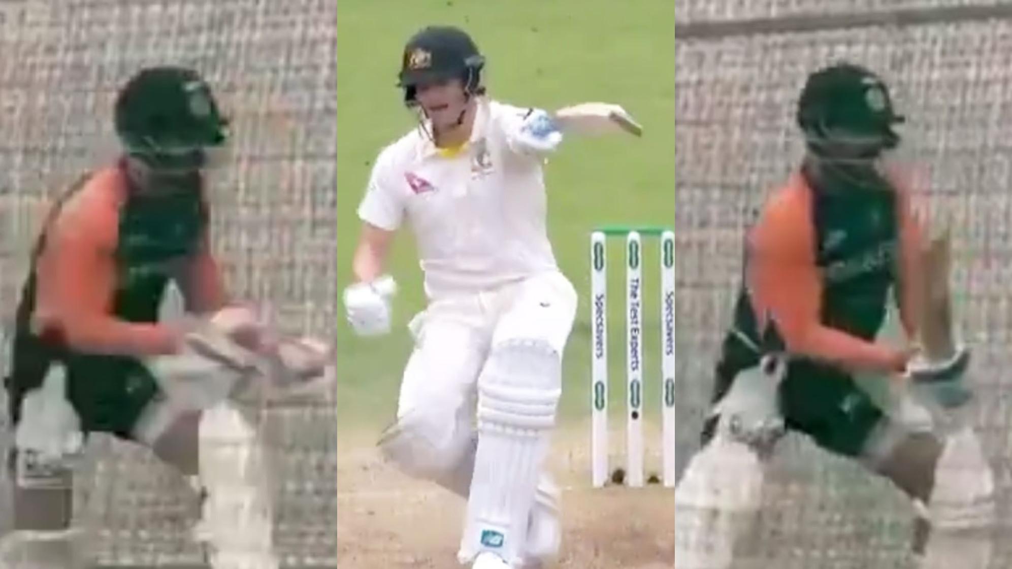IND v ENG 2021: WATCH- Virat Kohli imitates Steve Smith's mannerisms during nets