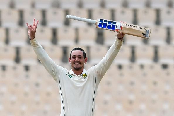 Quinton de Kock celebrates his century against the West Indies   Getty Images