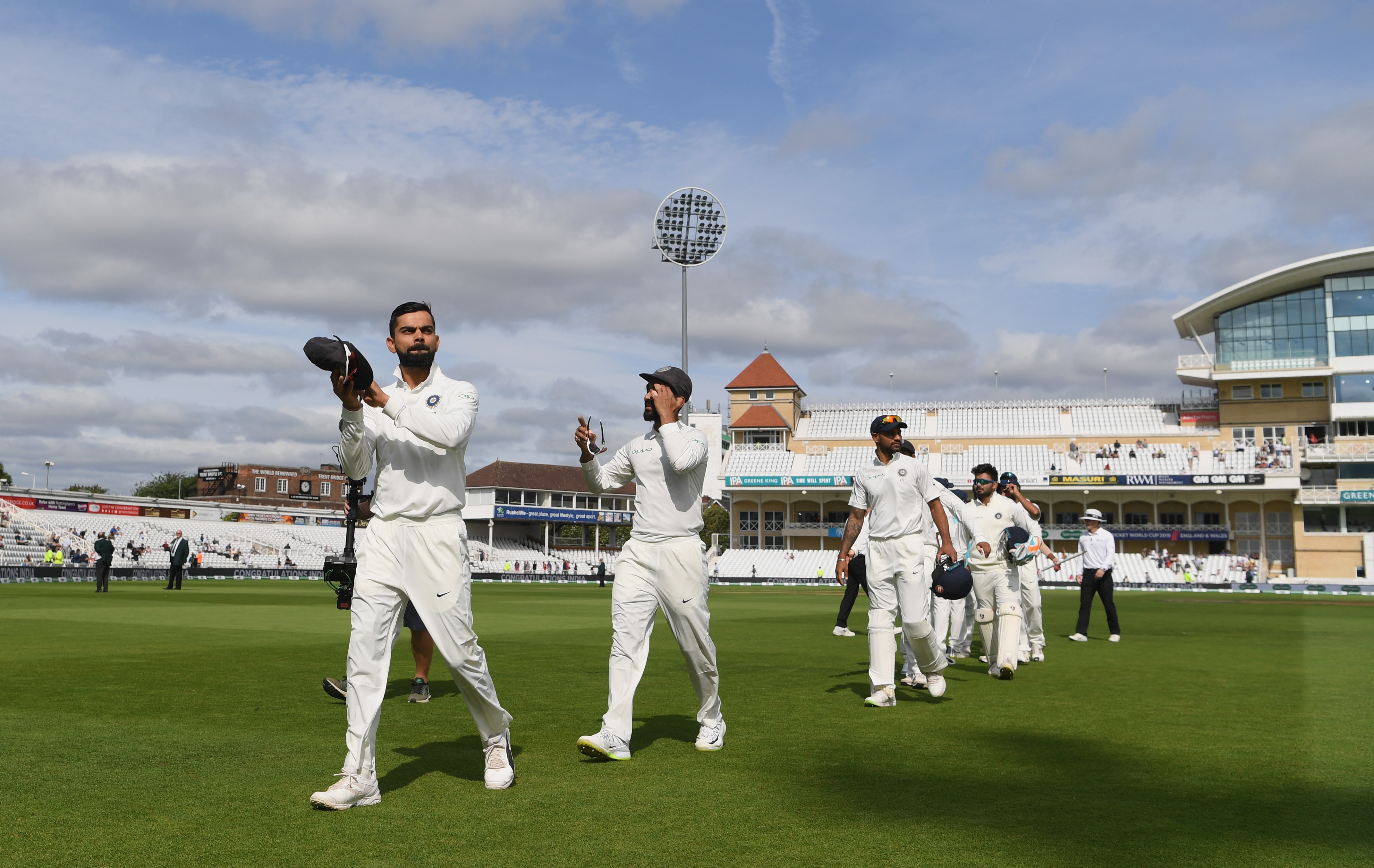 India won the Trent Bridge Test by 203 runs on Day 5. (Getty)