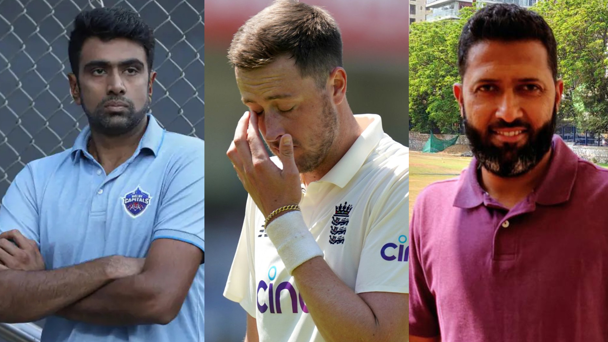 Ashwin and Jaffer react to Robinson's suspension; spinner calls it a warning for cricketers in social media generation