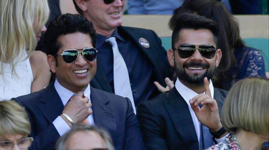 Virat Kohli and Sachin Tendulkar | Twitter