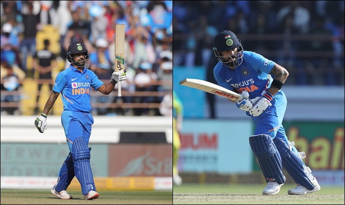 Dhawan's 96 and Kohli's 78 and their 103-run partnership helped India lay strong foundation | AFP