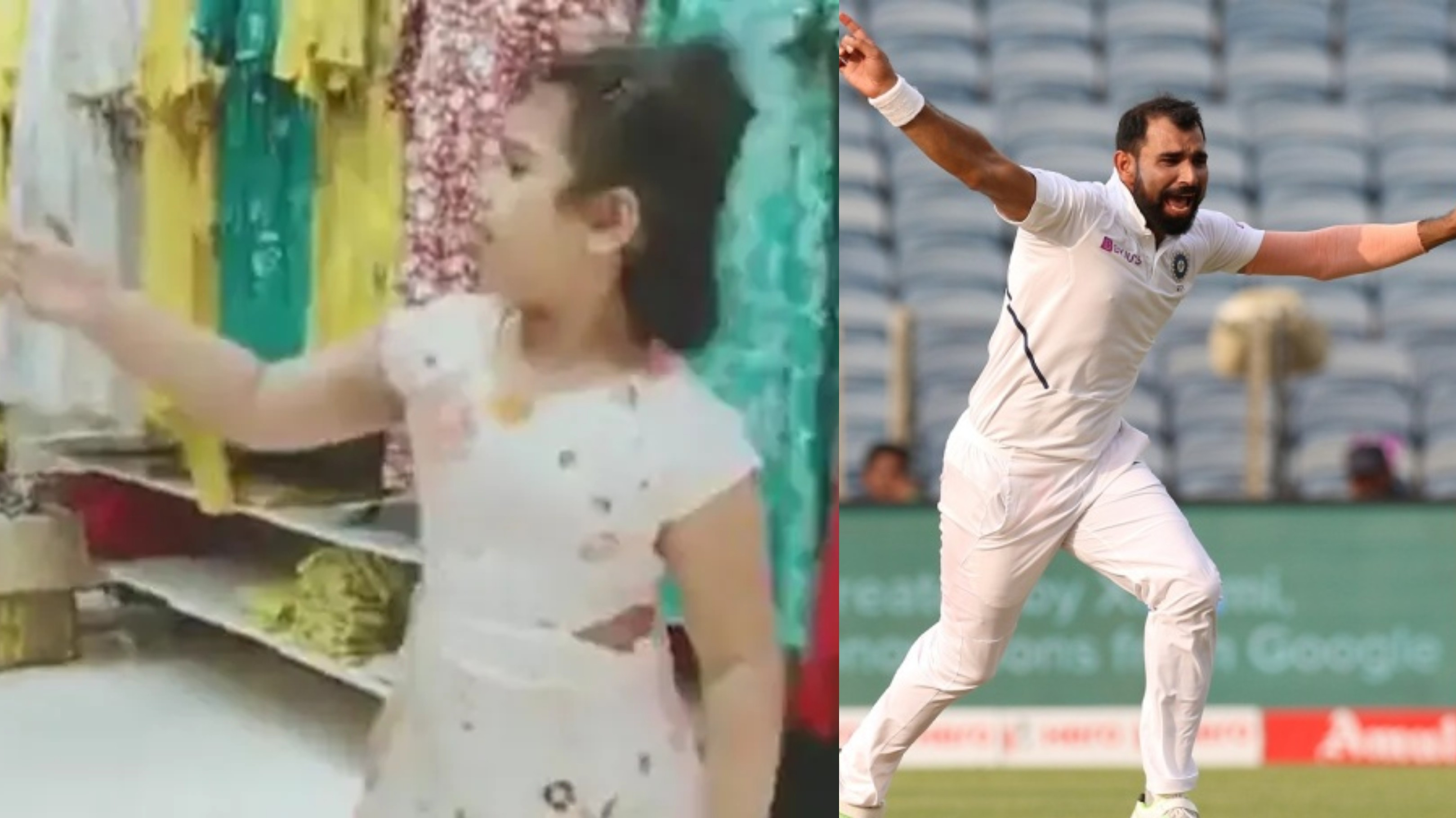 Watch - Mohammad Shami shares an adorable video of his daughter's dance