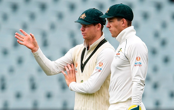 Smith with Paine on Day 4 at the Adelaide Oval | Getty