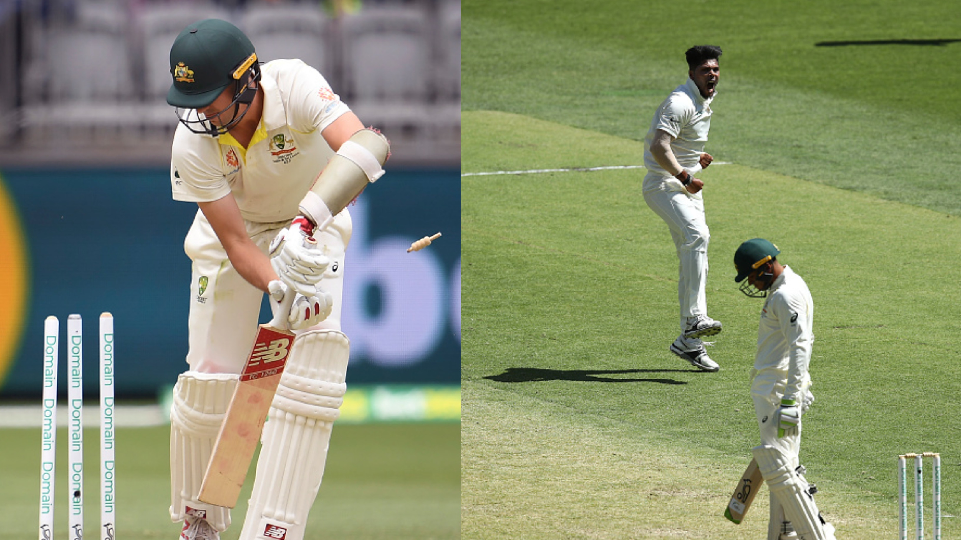 AUS v IND 2018-19: WATCH -Umesh Yadav stuns Pat Cummins with a dream delivery in Perth