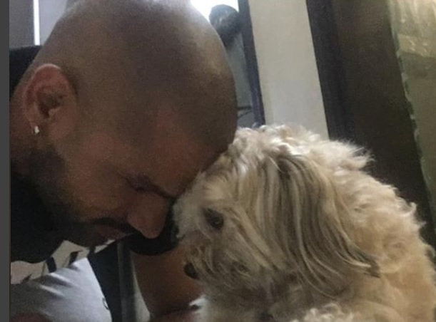 Shikhar Dhawan  with his pet dog Terri | Instagram