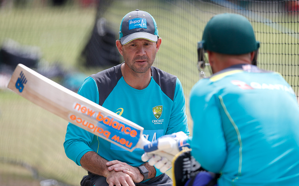 Ponting and Finch during net session | Getty Images