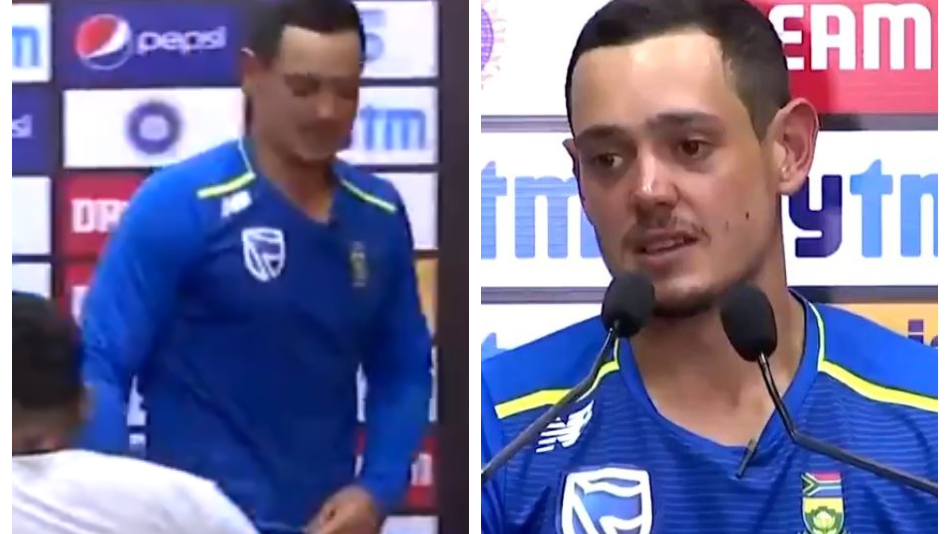"IND v SA 2019: WATCH – ""That was a dull one"", says De Kock after his first press conference as a captain in India"