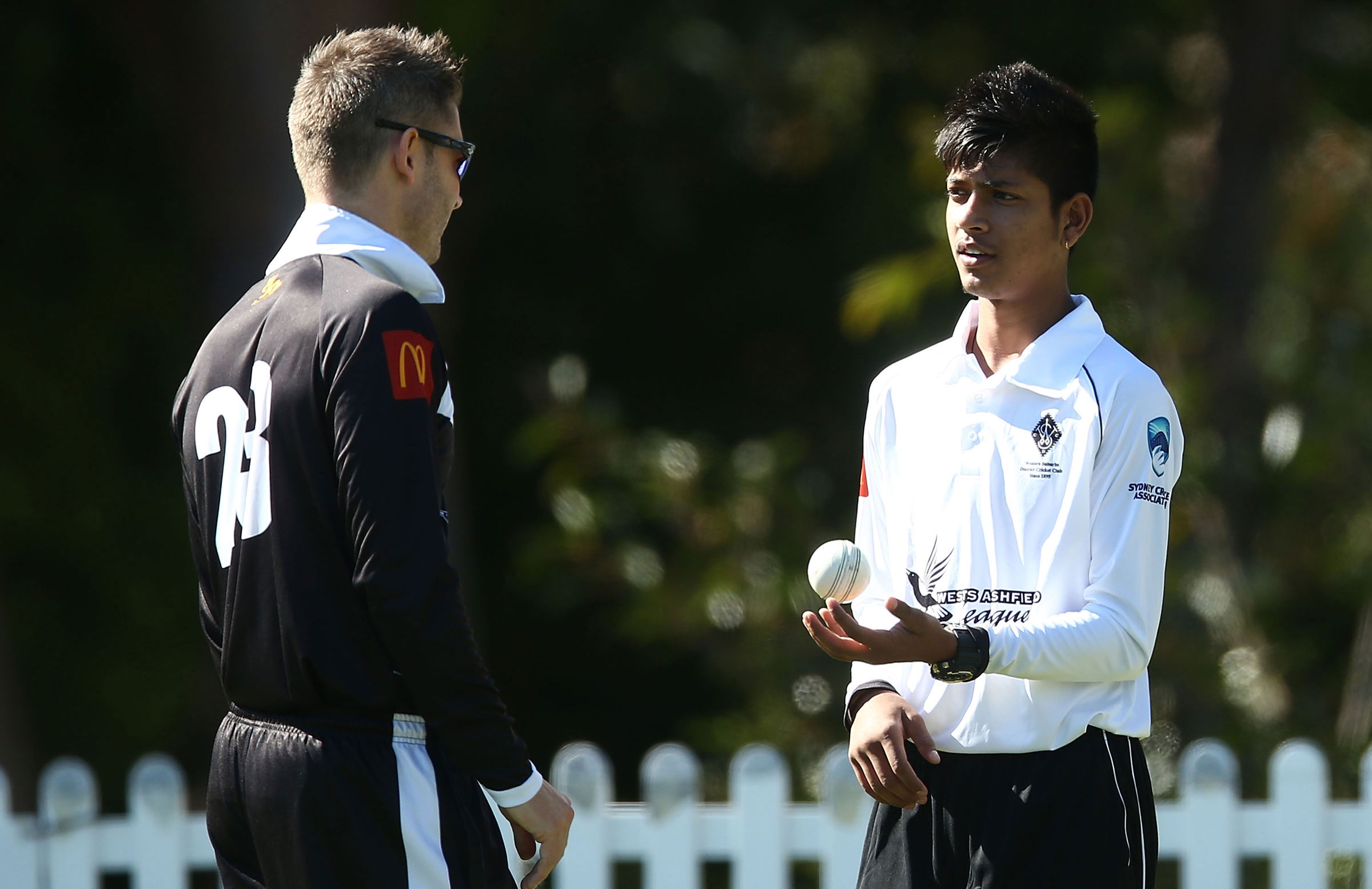 Lamichhane gets some advice from Michael Clarke | Getty Images