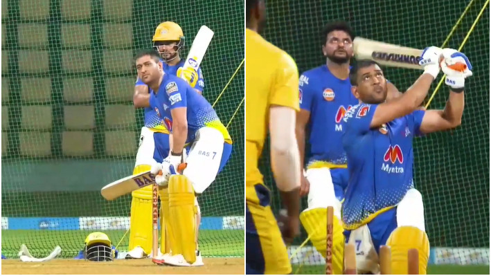 IPL 2021: WATCH - MS Dhoni gears up for demolition job in the upcoming IPL