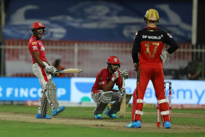 Pooran celebrates KXIP's win over RCB   BCCI/IPL
